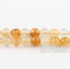 iron crystal beads,yellow,6mm round,sold per 15.75-inch strand