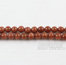 gold sand stone beads,4mm round ,sold per 15.75-inch strand