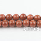 gold sand stone beads,8mm round ,sold per 15.75-inch strand
