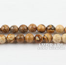 picture jasper beads,6mm round ,sold per 15.75-inch strand