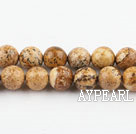 picture jasper beads,8mm round ,sold per 15.75-inch strand