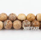 picture jasper beads,10mm round ,sold per 15.75-inch strand