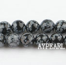 Snowflake beads,10mm round,sold per 15.75-inch strand