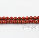 red gem beads,4mm round,sold per 15.75-inch strand