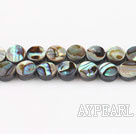 paua shell beads,6mm flat oval,Sold per 15.75-inch strands