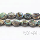 paua shell beads,10mm flat oval,Sold per 15.75-inch strands