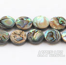 paua shell beads,12mm flat oval,Sold per 15.75-inch strands