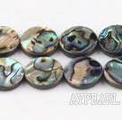 paua shell beads,14mm flat oval,Sold per 15.75-inch strands