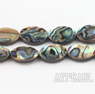 paua shell beads,10*14mm flat oval,Sold per 15.75-inch strands