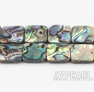 paua shell beads,14mm square,Sold per 15.75-inch strands