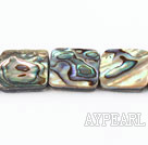 paua shell beads,16mm square,Sold per 15.75-inch strands