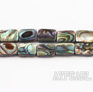 paua shell beads,8*10mm rectangle,Sold per 15.75-inch strands
