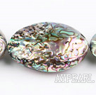 paua shell beads,38*53mm egg,Sold per 15.75-inch strands