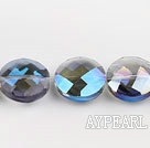 manmade crystal beads,10*20mm wafer,accompany with colors,sold per 13.58inches strand