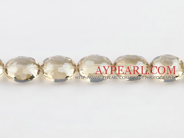 manmade crystal beads,11*16*20mm, champagne , Sold per 14.17inches strand