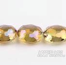 manmade crystal beads,13*20*24mm, accompany with the yellow color , Sold per 14.17inches strand
