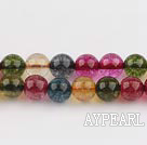 manmade burst pattern crystal beads,8mm round,faceted,sold per 16.14-inch strand