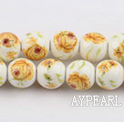 Porcelain beads,10mm round,sold per 14.96-inch strand