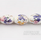 Porcelain beads,11*15mm rice,sold per 15.75-inch strand