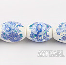 Porcelain beads,11*15mm rice,sold per 15.35-inch strand