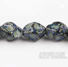 Porcelain Beads, Blue, 10*20mm heterotypic, Sold per 14.17-inch strand