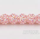 Acrylic bali beads,12mm,baby pink,Sold per 13.39-inch strand