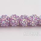 Acrylic bali beads,12mm,violet,Sold per 13.39-inch strand