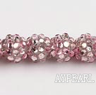 Acrylic bali beads,12mm,pink,Sold per 13.39-inch strand