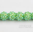 Acrylic bali beads,12mm,green,Sold per 13.39-inch strand