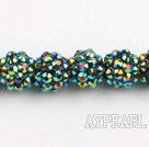 Acrylic bali beads,12mm,indigo,Sold per 13.39-inch strand