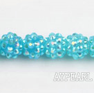 Acrylic bali beads,12mm,light blue,Sold per 13.39-inch strand