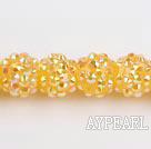 Acrylic bali beads,12mm,yellow,Sold per 13.39-inch strand