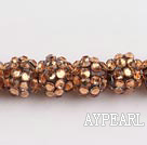 Acrylic bali beads,12mm,brown,Sold per 13.39-inch strand