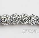 Acrylic bali beads,12mm,silver,Sold per 13.39-inch strand
