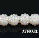 Acrylic bali beads,14mm,cream,Sold per 13.39-inch strand
