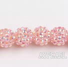 Acrylic bali beads,14mm,pink,Sold per 13.39-inch strand
