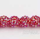 Acrylic bali beads,14mm,red,Sold per 13.39-inch strand