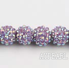 Acrylic bali beads,14mm,purple,Sold per 13.39-inch strand