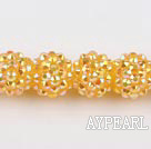 Acrylic bali beads,14mm,ginger,Sold per 13.39-inch strand