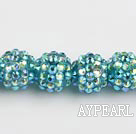 Acrylic bali beads,14mm,dark blue,Sold per 13.39-inch strand