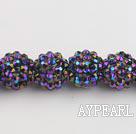 Acrylic bali beads,14mm,purple,Sold per 13.39-inch strand