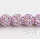 Acrylic bali beads,16mm,violet ,Sold per 14.17-inch strand