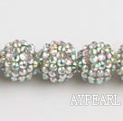 Acrylic bali beads,16mm,white ,Sold per 14.17-inch strand