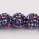 Acrylic bali beads,16mm,purple,Sold per 14.17-inch strand