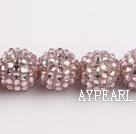 Acrylic bali beads,18mm,dark pink,Sold per 14.17-inch strand