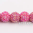 Acrylic bali beads,18mm,rose,Sold per 14.17-inch strand