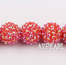 Acrylic bali beads,18mm,red,Sold per 14.17-inch strand