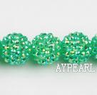 Acrylic bali beads,18mm,green,Sold per 14.17-inch strand