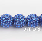 Acrylic bali beads,18mm,blue,sold per strand, about 14.17 inches
