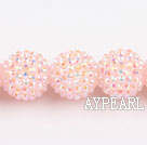 Acrylic bali beads,20mm,baby pink,Sold per 14.57-inch strands